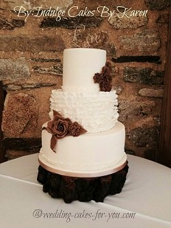 Rustic Wedding Cake By Indulge Cakes by Karen