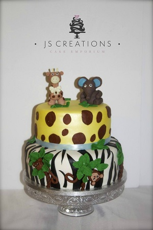 Jungle cake by JS Creations