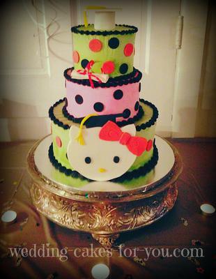 Hello Kitty Graduation Cake