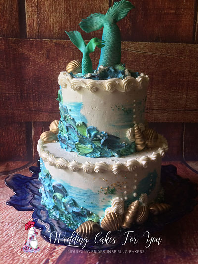 ocean themed cake design