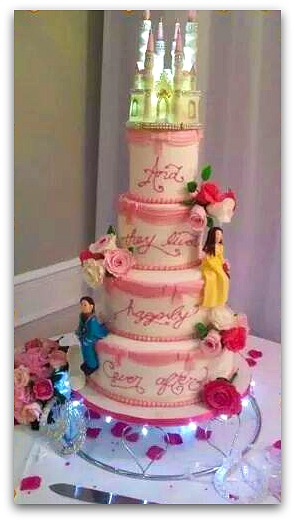 A fantasy wedding cake by My Darlin Cakes