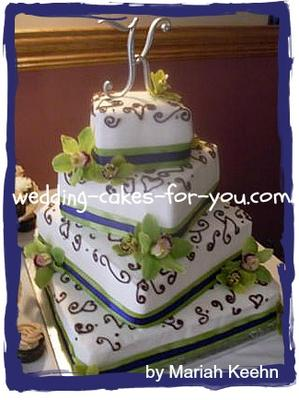Mariah's Orchid Wedding Cake