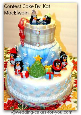 Front Of  Penguin Cake