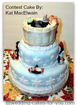 Back of Penguin Cake