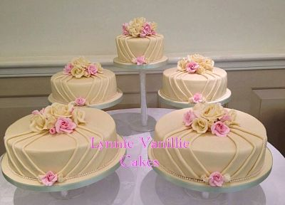 Pleated Fondant Cake by Lynne Vanille