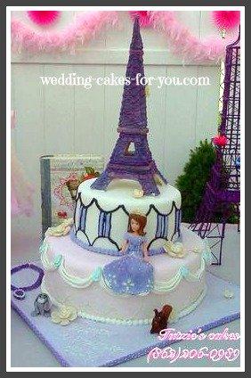 Princess Cake With Eiffel Tower