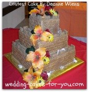 a sand castle wedding cake