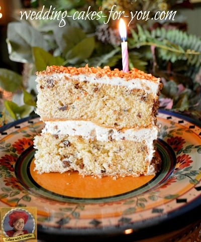 Slice of Pecan Cake