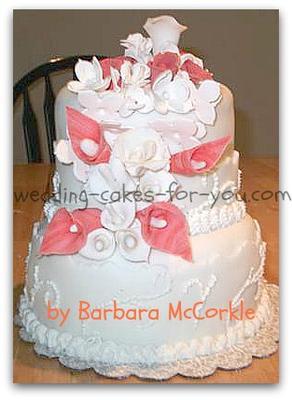 Small fondant wedding cake