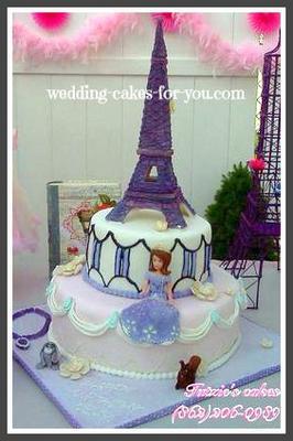 Eiffel Tower Cake For A Princess