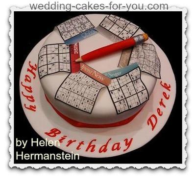Sudoku Birthday Cake
