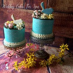 teal cake designs