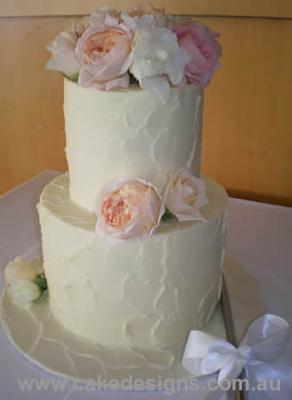 Tall Tiers Peony Rose Cake By www.cakedesigns.com