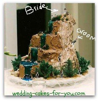 mountain climbers cake for a groom