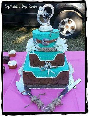 Western Wedding Cake by Melissa