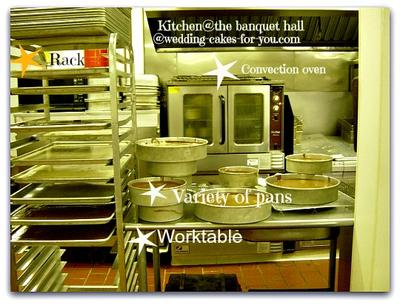 Convection Oven, Racks and aTable with Cake Pans