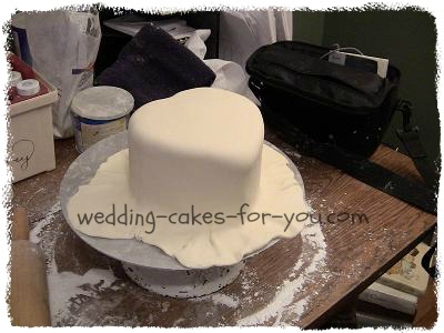 Covering A Cake In Fondant