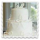 wedding cake with royal icing decorations