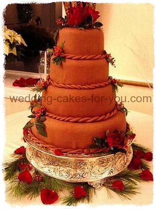 Chocolate Fondant Christmas Wedding Cake