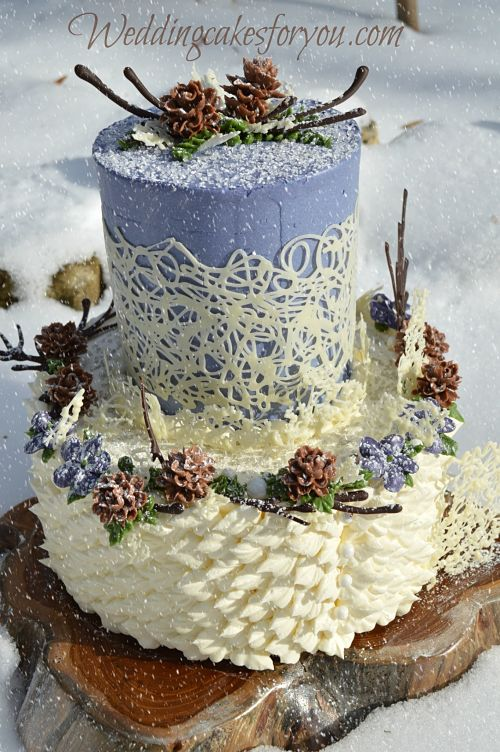 Permalink to Winter Wonderland Wedding Cake