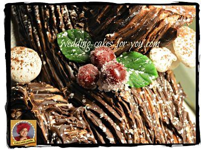 Yule log cake