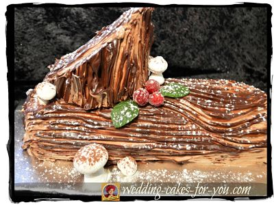 Yule Log Cake Recipe Also Called A Buche De Noel